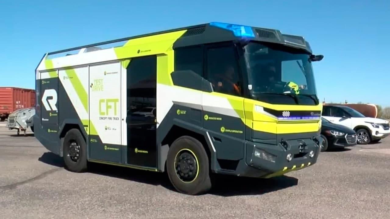 В США приступили к тестированию пожарной машины на электродвигателе